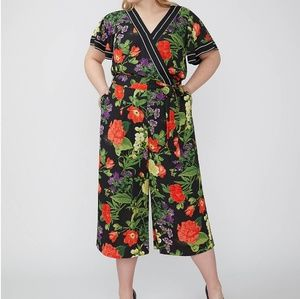 Lane Bryant floral wide legged jumpsuit, NWT